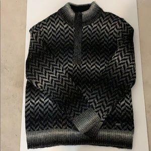 DKNY Jeans Men's Jaquard V neck Sweater